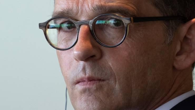 Der deutsche Aussenminister Heiko Maas hat am Montag in Brüssel nach einem Treffen mit seinem US-Kollegen Mike Pompeo seine Sorge über eine mögliche militärische Eskalation zwischen den USA und dem Iran ausgedrückt (Archiv).