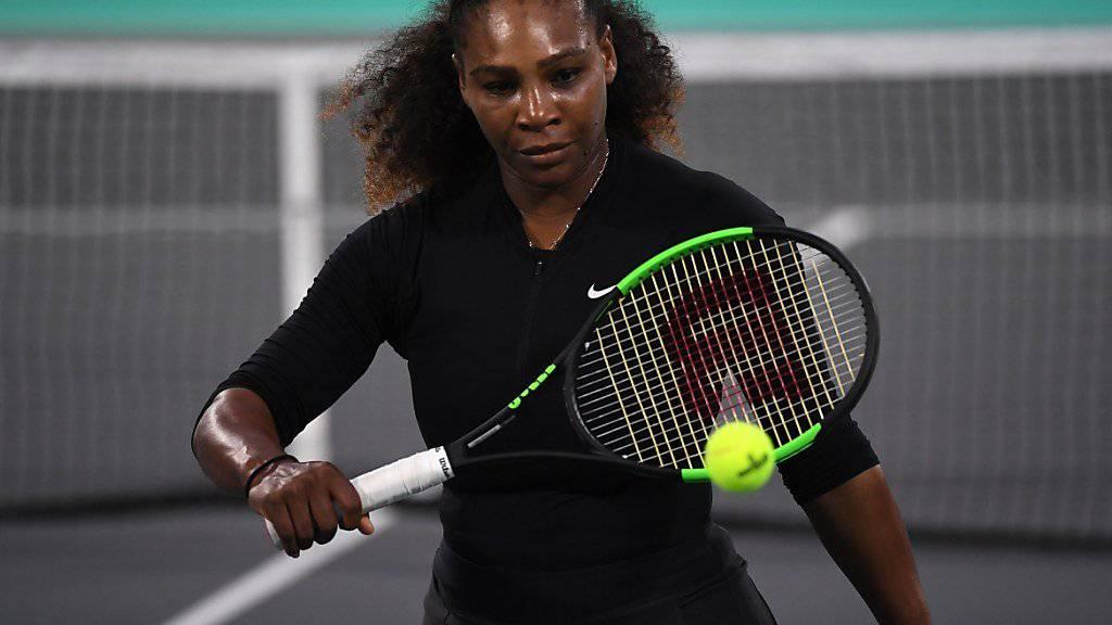 Noch nicht bereit für das Australian Open: Serena Williams