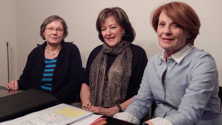 An der Arbeit: (v.l.) Heike Hauschildt, Margrit Kissling und Barbara Studer.
