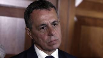 Aussenminister Ignazio Cassis: «Das Dossier lag nicht auf meinem Tisch.»
