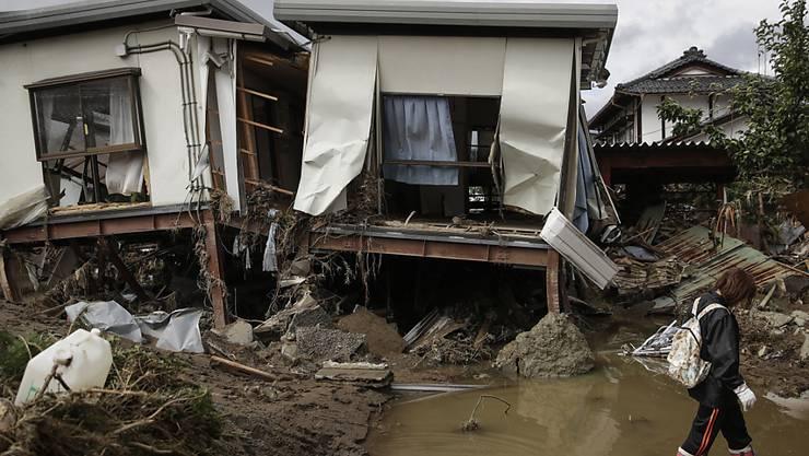 Extreme Wetterereignisse verursachen immer höhere Schäden - Im Bild Zerstörungen des Taifuns Hagibis im Oktober 2019 in Japan. (Archiv)