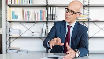 Martin Tschirren, neuer Direktor des Bundesamtes für Wohnungswesen – noch in Grenchen – im Gespräch.