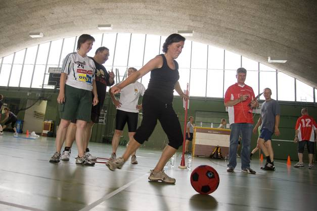 Barbara Streit-Kofmel (CVP) am Ball