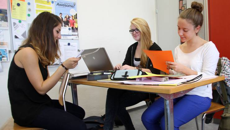 In der Projektwoche Berufswelt tauschten sich die Schülerinnen und Schüler immer wieder in Gruppen aus. zvg