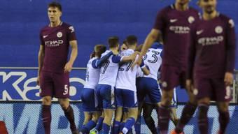Wigan feiert den Cup-Coup gegen Manchester City