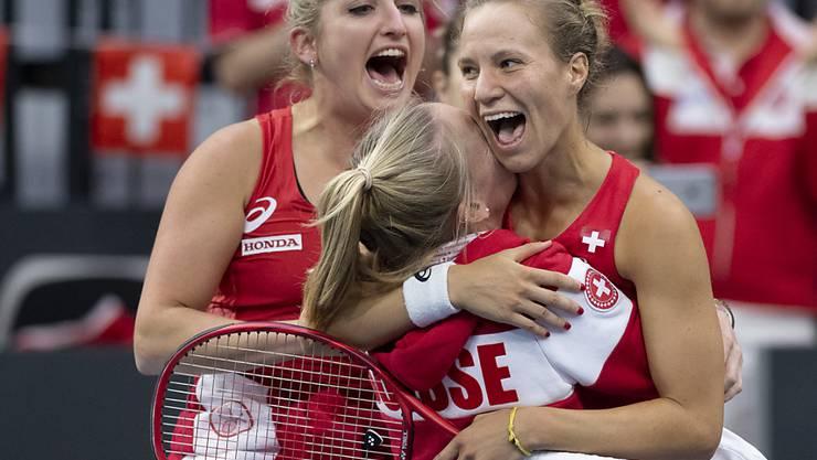 Nach dem Sieg im Februar gegen Italien strebt das Schweizer Fed-Cup-Team am Wochenende in Texas den Wiederaufstieg in die Weltgruppe I an