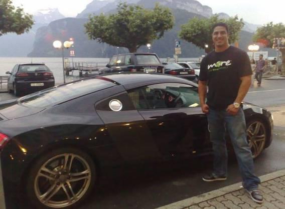 Calvin Becerra, Monavie-Verkäufer beim Zwischenstopp in der Schweiz.