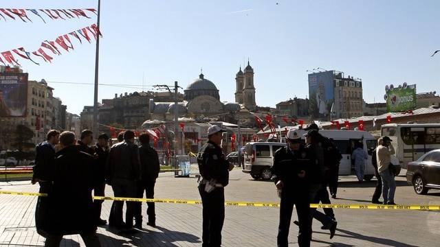 Der Taksim-Platz in Istanbul nach dem Selbstmordanschlag