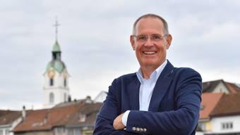 Feiert mit der FDP auch bis tief in die Nacht: Stefan Nünlist ist seit rund einem Jahr Präsident der Solothurner FDP. Bruno Kissling