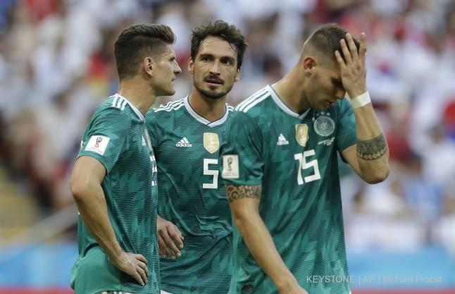 Und die deutschen Spieler sahen auch schon glücklicher aus.