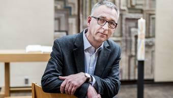 Pfarrer Christoph Herrmann nimmt bald Abschied von der Kirche in Therwil.