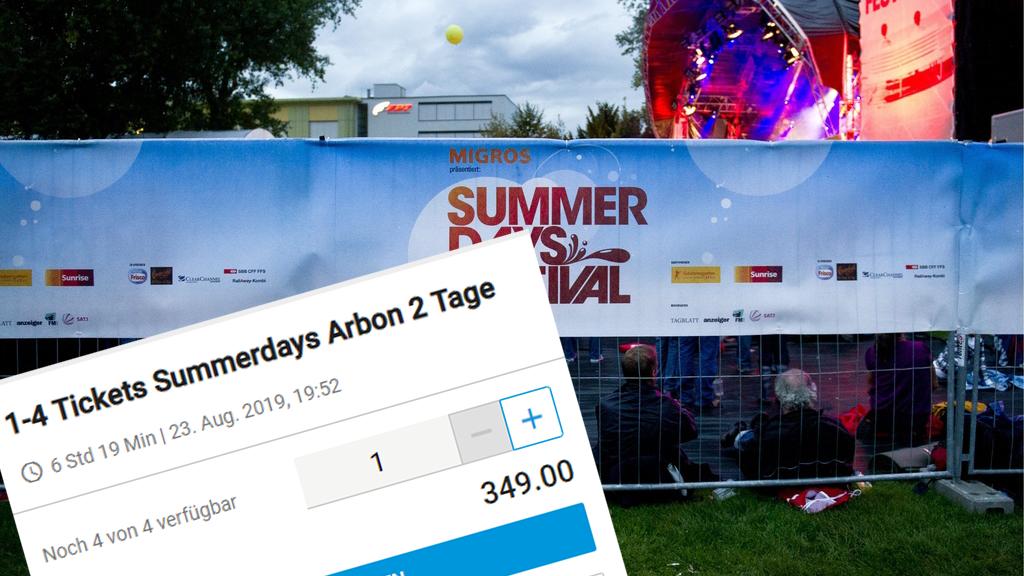 Der Anbieter Top-Tickets verlangt viel zu viel für die Summerdays-Tickets.
