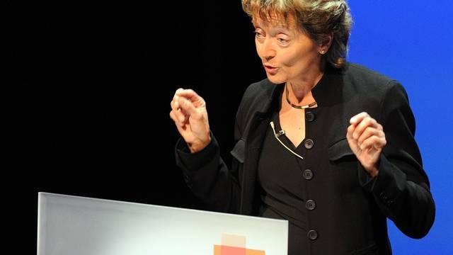 Bundesrätin Eveline Widmer-Schlumpf an der Economiesuisse-Tagung