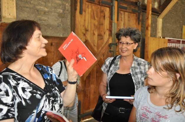 Sie begleitete die Delegation Fünft- und Sechstklässler aus dem Bucheggberg