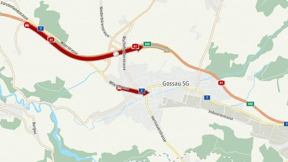 Auffahrunfall mit fünf Fahrzeugen sorgte auf der A1 für Stau