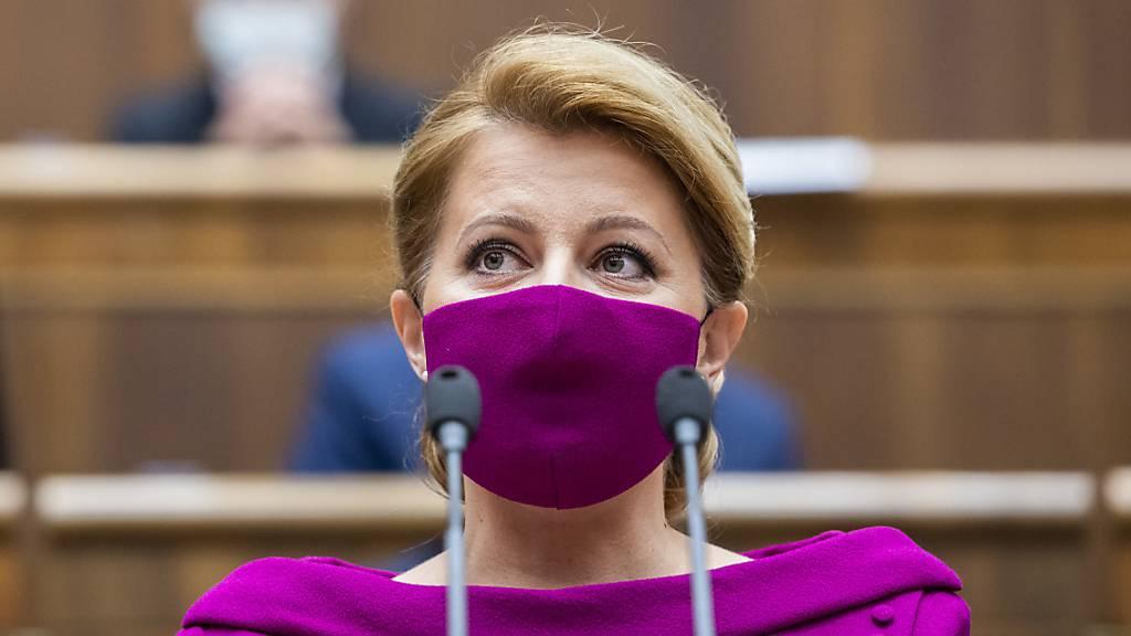 Slowakische Präsidentin geht in Corona-Quarantäne