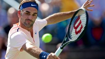 Zurück auf dem Trainingsplatz: Roger Federer sieht sich für das US Open im Fahrplan