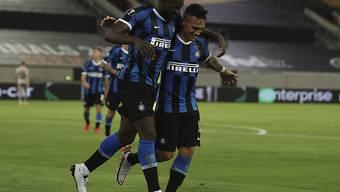 Romelu Lukaku und Lautaro Martinez schossen je zwei Tore für Inter Mailand gegen Schachtar Donezk