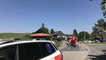 Die lebensbedrohlich verletzte Fussgängerin musste mit der Rega ins Spital geflogen werden.