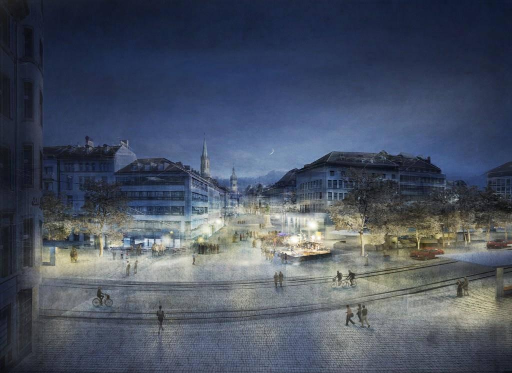 So soll der St.Galler Marktplatz dereinst aussehen