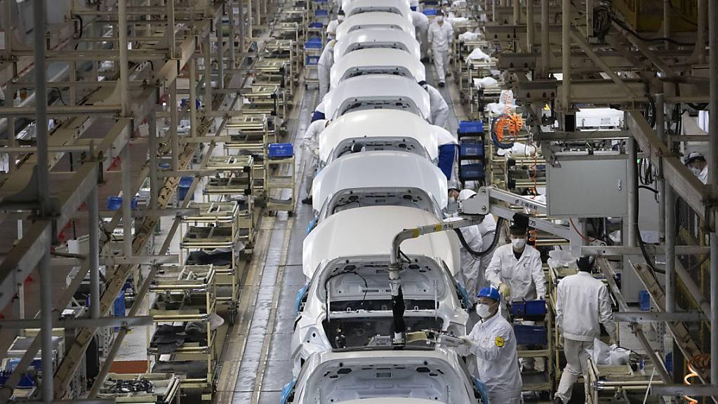 Eine Honda-Fabrik in Wuhan, China (Archivbild).