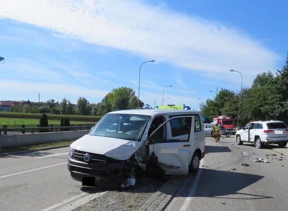 Der VW T5, der den Unfall verursachte.