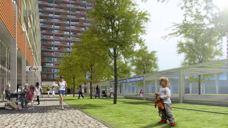 Die Genossenschaft Migros Aare und EG Tivoli Garten sowie zwei Immobilienfonds von Credit Suisse Asset Management haben das Projekt gemeinsam geplant.
