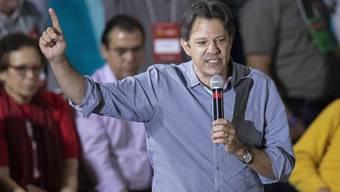 Fernando Haddad ist von der Arbeiterpartei in Brasilien zum Vizepräsidentschaftskandidaten für den inhaftierten Ex-Präsidenten Luiz Inácio Lula da Silva ernannt worden.