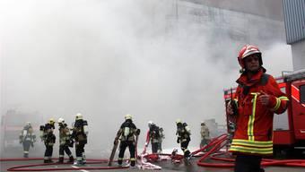 Besetzer bewerfen Feuerwehrleute in Basel