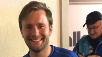 Nach elf Treffern im Spiel gegen Trimbach hat Simon Affentranger allen Grund zum Strahlen.