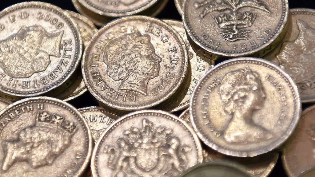 Britische Ein-Pfund-Münzen. (Archivbild)