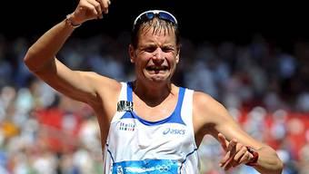 Alex Schwazer bei seinem Sieg 2008 in Peking.