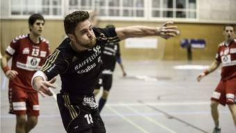 Der STV Baden Handball sichert sich mit dem Sieg gegen die SG Yellow/Pfadi Winterthur den Ligaerhalt (Archivbild).