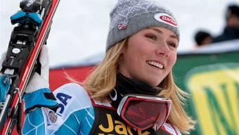 Mikaela Shiffrin ist bereits mit 20 Jahren ein Superstar der Skiszene.keystone