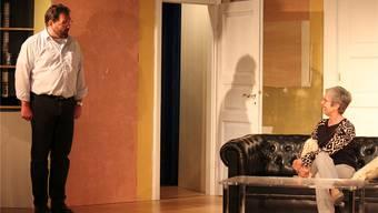 Probeszene aus dem neuen Stück «Siesse Waansinn», das am 5. November im Kellertheater im Lohnhof Premiere feiert.