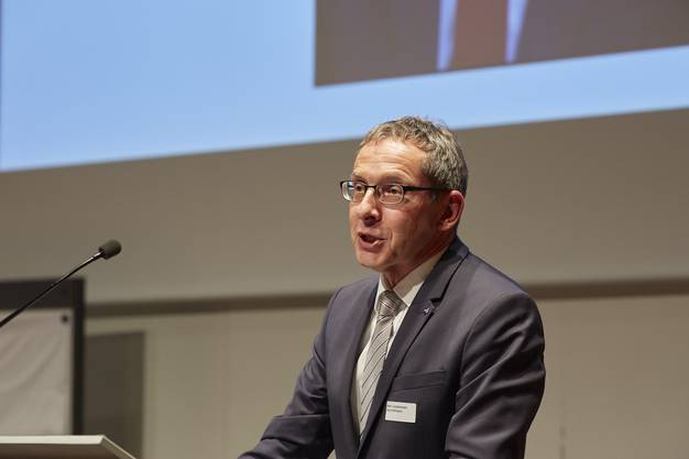 Landammann Urs Hofmann hielt die Grussbotschaft zur Preisverleihung