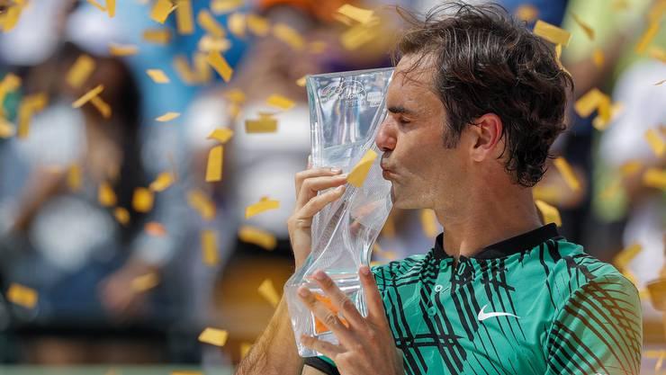 Roger Federer hat das ATP-1000-Turnier von Miami gewonnen. Klicken Sie sich durch die besten Bilder des Spiels.