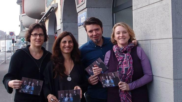 Freuen sich auf den Event (v. l.): Gabi Umbricht (Odeon), Maja Loncarevic (Dampfschiff), Stephan Filati (Odeon) und Irene Simmen (Dampfschiff).