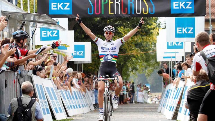 Am Ende ohne Gegner: Radquer-Weltmeister Zdenek Stybar siegte überlegen.