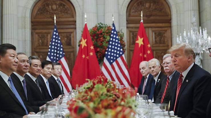 Die US-Regierung um US-Präsident Donald Trump wünscht sich rasche Ergebnisse bei den Gesprächen mit den Chinesen um Handelsfragen. (Archivbild)