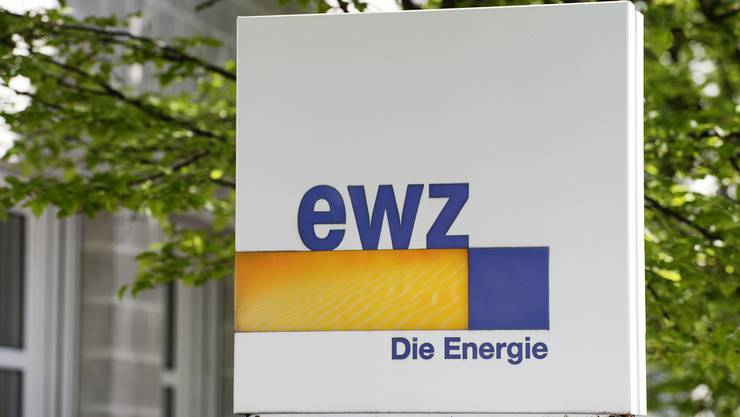 Das Logo des Elektrizitätswerks der Stadt Zürich EWZ.