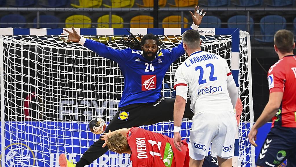 Der französische Goalie Wesley Pardin zog einen Glanztag ein