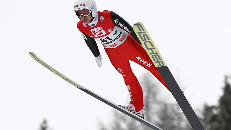 Der Skispringer Simon Ammann ist daran, sein Leben nach dem Sport aufzubauen: Vor zwei Wochen hat er ein Studium an der Universität St. Gallen aufgenommen. (Archivbild)