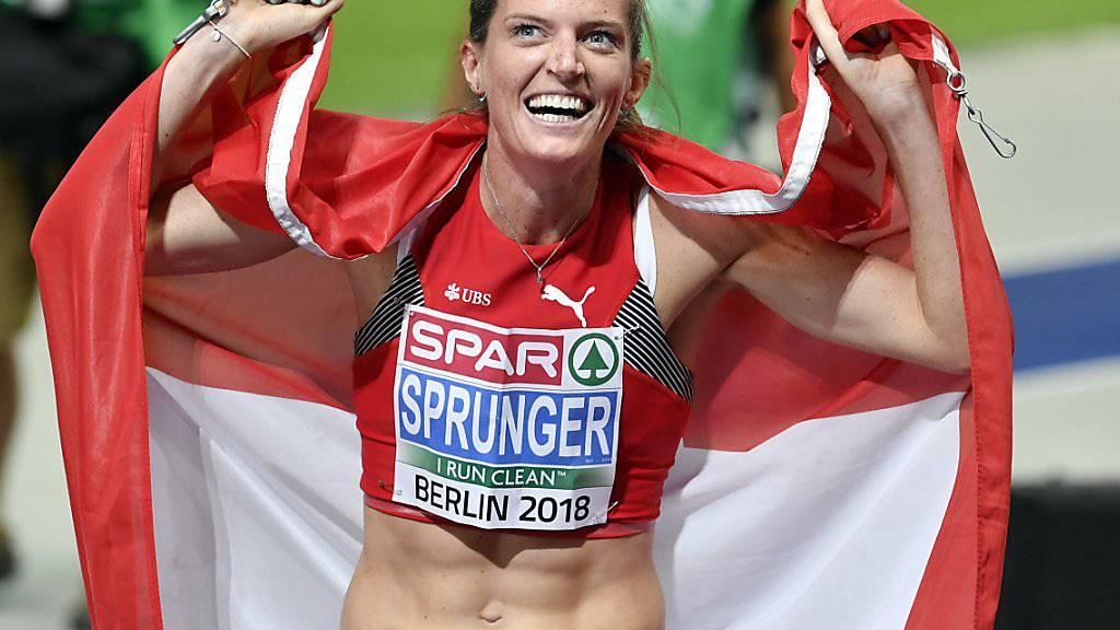 Tritt bei Weltklasse Zürich über 400 m Hürden als Europameisterin an: Lea Sprunger