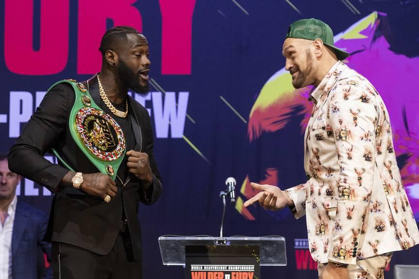 Der erste Kampf zwischen Deontay Wilder (links) und Tyson Fury (rechts) endete Unentschieden.