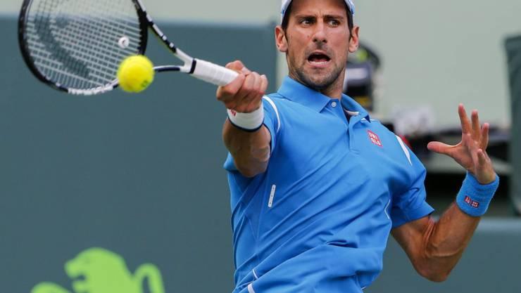 Novak Djokovic musste kämpfen, siegte aber dennoch in zwei Sätzen