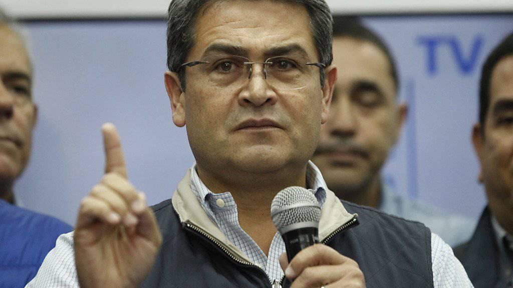 Nach wochenlanger Unklarheit: Die oberste Wahlbehörde erklärt Juan Orlando Hernández zum Wahlsieger der Präsidentenwahl in Honduras. (Archivbild)
