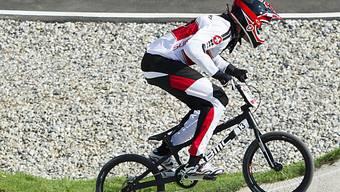 Der Schweizer BMX-ler Roger Rinderknecht scheidet im Halbfinal aus.