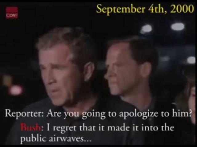 """Bush nennt einen Reporter """"Arschloch"""""""