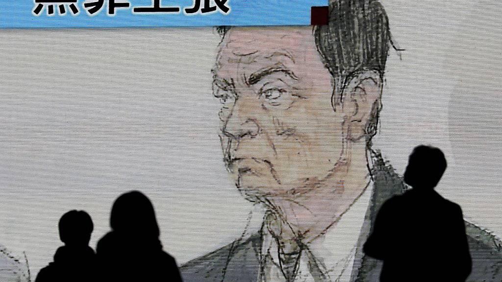 Ein Gerichtsbild des Automanagers Ghosn.